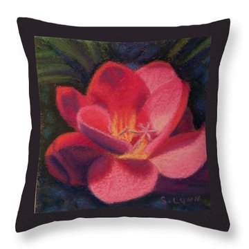 Freesia Dawn Throw Pillow