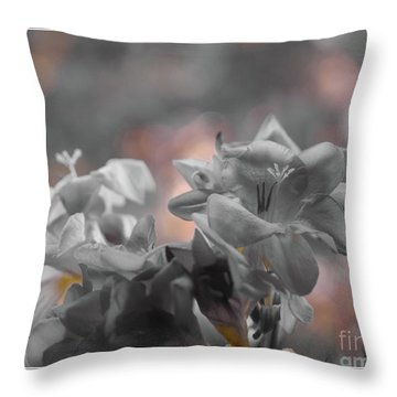 Freesia'a Without Colour Throw Pillow