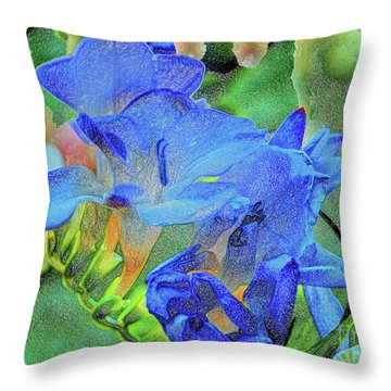 Freesia's Of Beauty Throw Pillow
