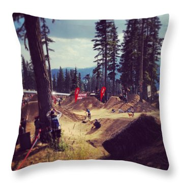 Freestyling Mtb Throw Pillow