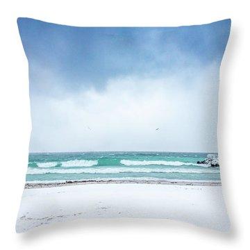 Freezing Storm Throw Pillow