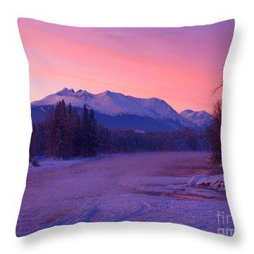 Freezing Under The Glow Throw Pillow