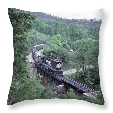 Freight At Mill Creek Throw Pillow