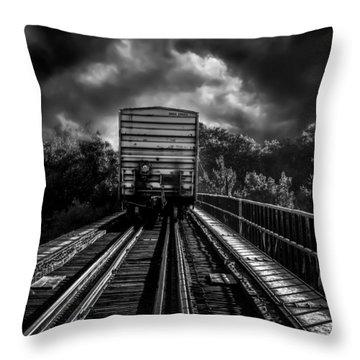 Freight Train Blues Throw Pillow by Bob Orsillo