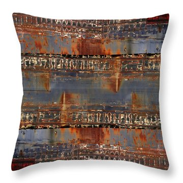 Freighter Abstract 11 Throw Pillow