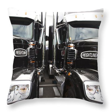 Freightliner Throw Pillow by Alice Gipson
