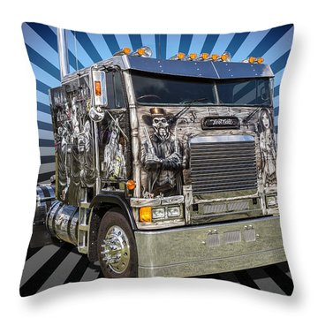 Throw Pillow featuring the photograph Freightliner by Keith Hawley