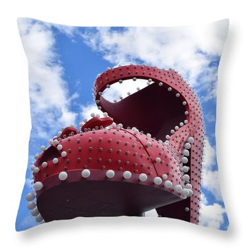 Fremont St. Shoe Throw Pillow