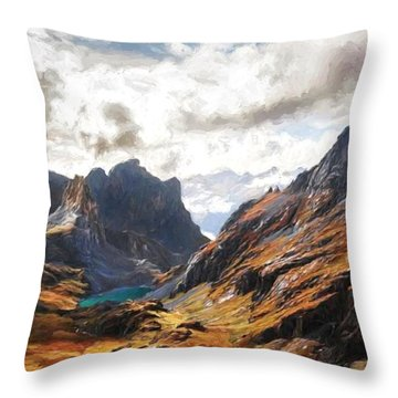 French Alps Throw Pillow