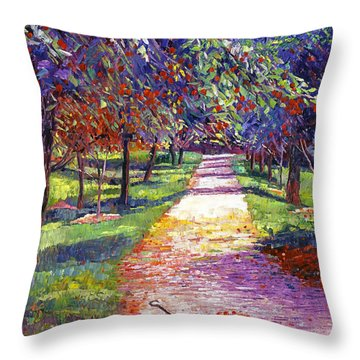 French Apple Orchards Throw Pillow