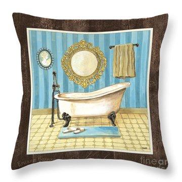 French Bath 1 Throw Pillow