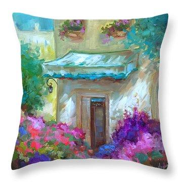 French Bistro Throw Pillow by Nancy Medina