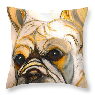 French Bulldog Drawing Throw Pillow