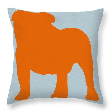 French Bulldog Orange Throw Pillow by Naxart Studio