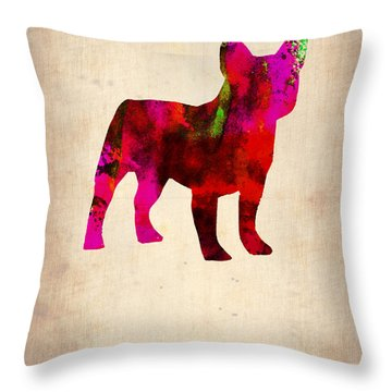 French Bulldog Poster Throw Pillow