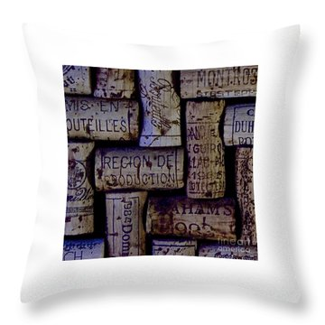 French Corks Throw Pillow by Anthony Jones