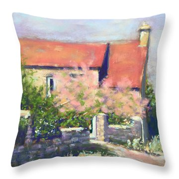 French Cottage Throw Pillow by Rebecca Matthews