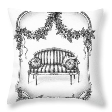 French Country Sofa Throw Pillow by Adam Zebediah Joseph