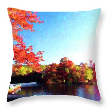 French Creek Fall 020 Throw Pillow by Scott McAllister