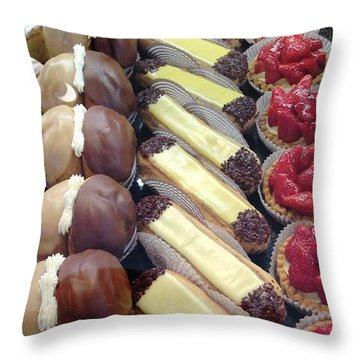 Throw Pillow featuring the photograph French Delights by Therese Alcorn