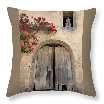 French Doors And Ghost In The Window Throw Pillow by Marilyn Dunlap