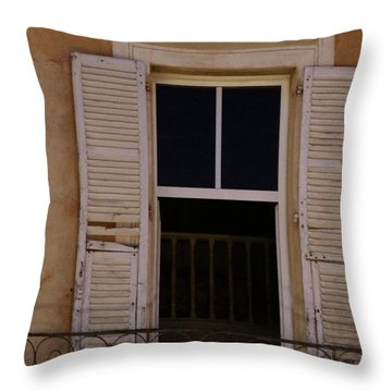 Throw Pillow featuring the photograph French Evening by Rasma Bertz
