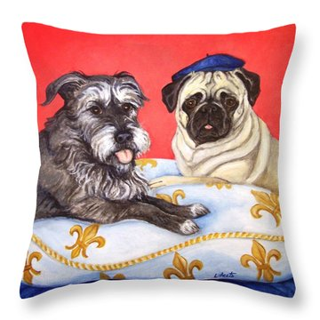 French Friends Throw Pillow