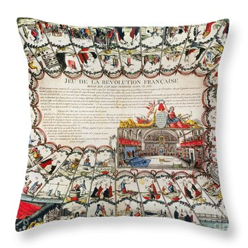 French Game Board, 1791 Throw Pillow by Granger