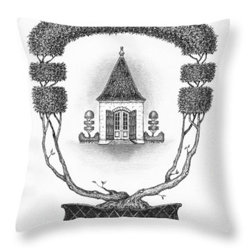 French Garden House Throw Pillow by Adam Zebediah Joseph
