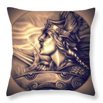French Genius In Armor Throw Pillow