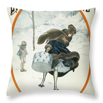 French Magazine Cover Throw Pillow by Granger