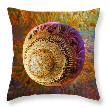 Throw Pillow featuring the painting French Ornamental  by Robin Moline