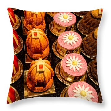 French Pastries In Lyon Throw Pillow
