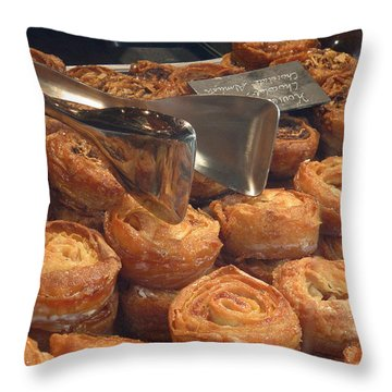 French Pastries Throw Pillow