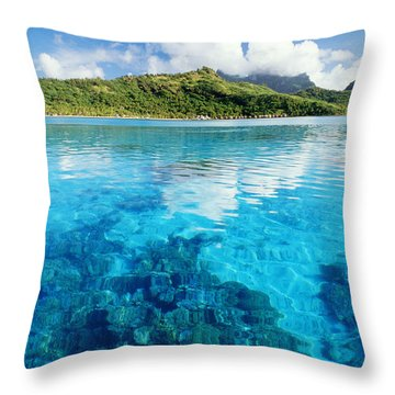 French Polynesia, View Throw Pillow by Joe Carini - Printscapes