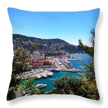 French Port Throw Pillow by Tiffany Marchbanks