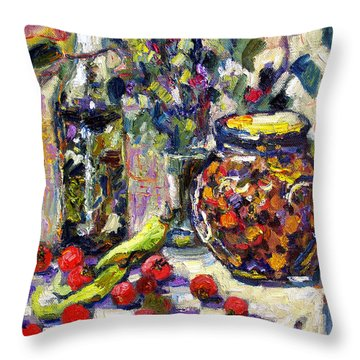 French Provence Cooking Still Life Throw Pillow