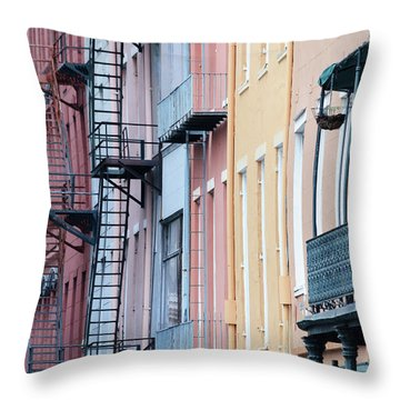 French Quarter Colors Throw Pillow