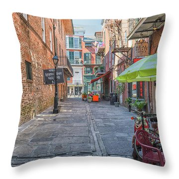 French Quarter Market Throw Pillow