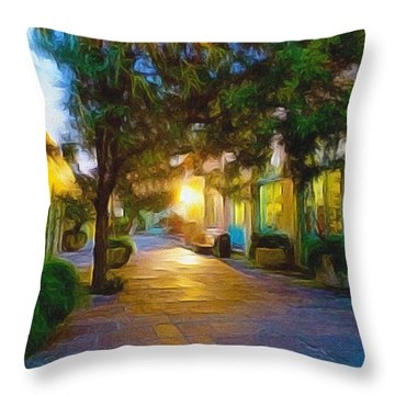 French Quarter Throw Pillow by Paul  Wilford