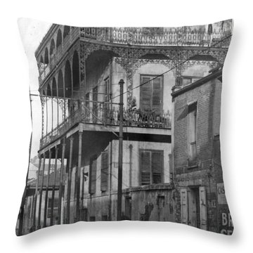 Dauphine St Residence Throw Pillow
