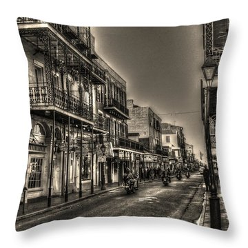 French Quarter Ride Throw Pillow