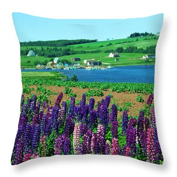 French River, Prince Edward Island Throw Pillow