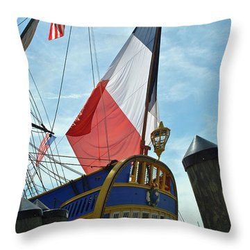 French Stern Throw Pillow