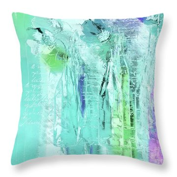 Throw Pillow featuring the digital art French Still Life - 14b by Variance Collections