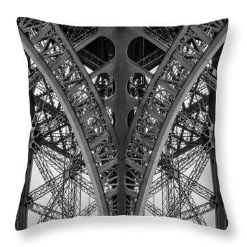 French Symmetry Throw Pillow