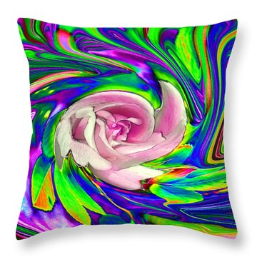 French Wild Rose Throw Pillow by Rose Guay