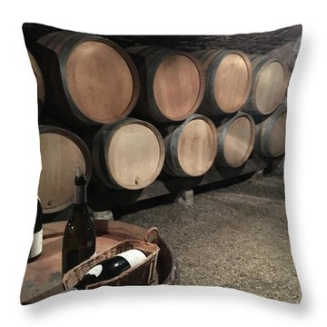 French Wine Cellar Throw Pillow