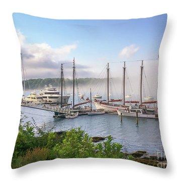 Frenchman's Bay Bar Harbor Throw Pillow