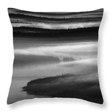 Frenchman's Bay Recursion Throw Pillow
